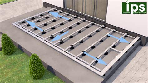 terrasse unterkonstruktion alu ips aluminium unterkonstruktion f 252 r terrassen platten oder