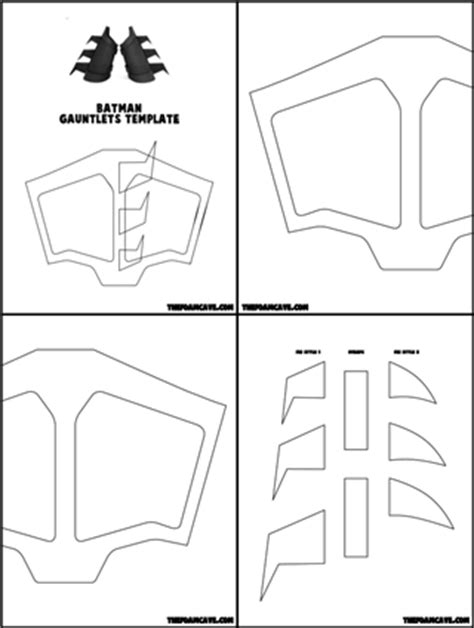 template for batman gauntlets the foam cave