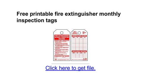 extinguisher inspection tag template certificate document template employee experience