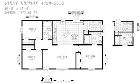 Floor Plans First Edition Heritage Home Center 28x40 House Plans