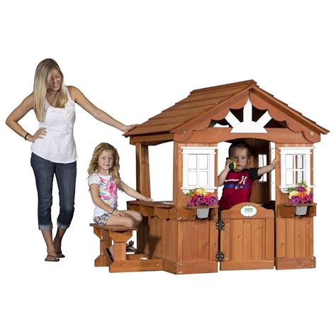 adorable outdoor wood cottage playhouses for