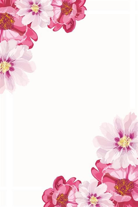 fresh flowers simple border print ads flowers simple