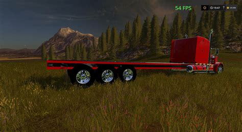 Handmade Ls - peterbilt 388 custom flatbed auto load v1 for ls17