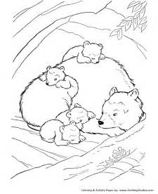 wild animal coloring pages inside the bear den coloring