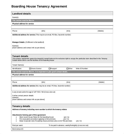 boarder agreement template lease agreement template 19 free word pdf documents