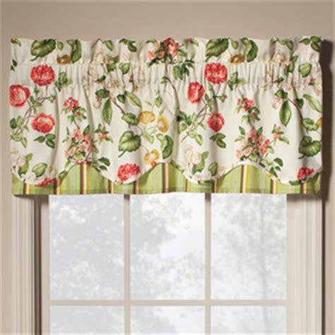 lowes curtains waverly shop waverly 16 in l pear home classics scalloped valance