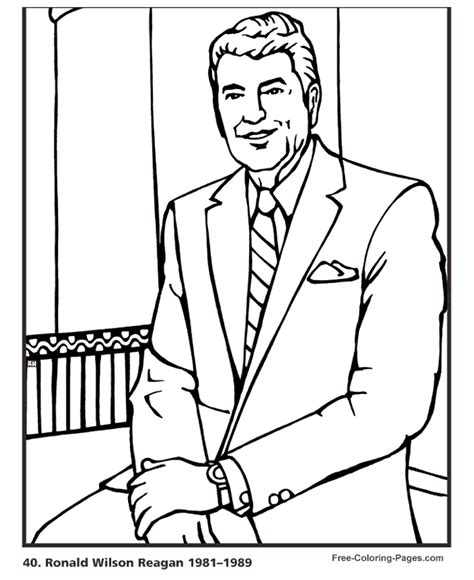printable coloring pages us presidents president s day ronald