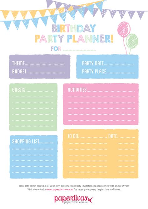 free printable event planner paperdivas blog free party planner printable