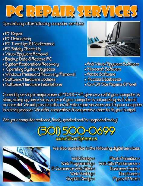 computer repair flyer template free luis mirones personal web site pc web