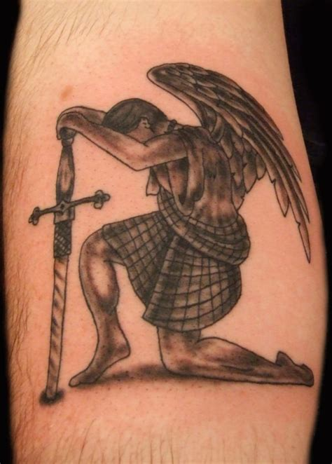 tattoo angel with sword 43 heavenly angel tattoo designs tattooblend