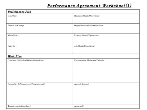 Performance Review Worksheet by Printables Performance Feedback Worksheet