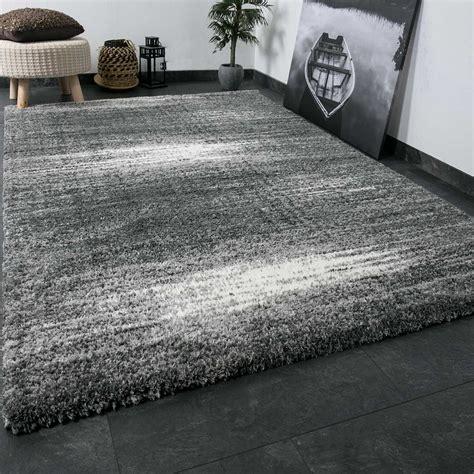 teppiche grau schwarz shaggy teppich flauschig dicht gewebt hochflor farbe