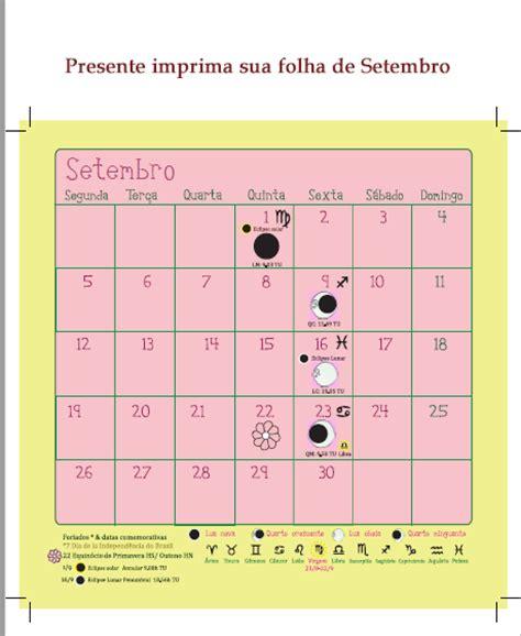 Calendario Lunar Setembro 2017 Mulheres Da Terra Calend 225 Lunar