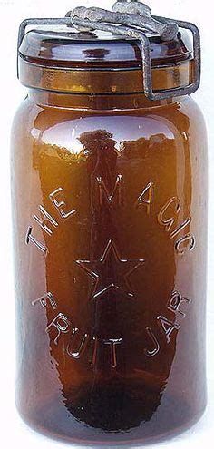 In Jar Emc Original Magic 2 antique style 1858 glass fruit jar butter churn vtg style farm decor glass