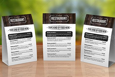 menu tent card template 68 menu card templates free psd word illustrator designs