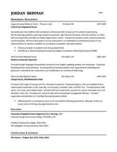 Emergency Room Sle Resume by Er Resume Exle Resume Exles