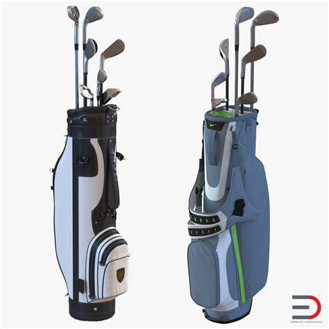 Bag 3d 3d model golf bags 2