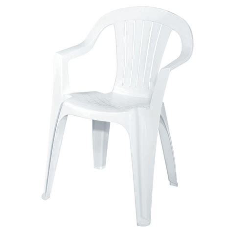 plastic outdoor chair white patio low back chair 8234 48 4301 the home depot