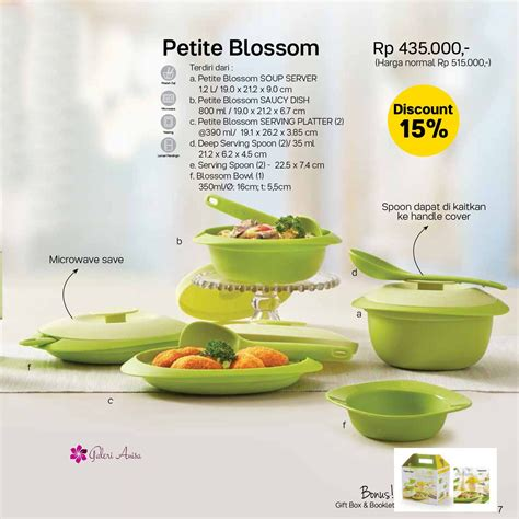 Tupperware Blossom tupperware blossom set collection wikiharga