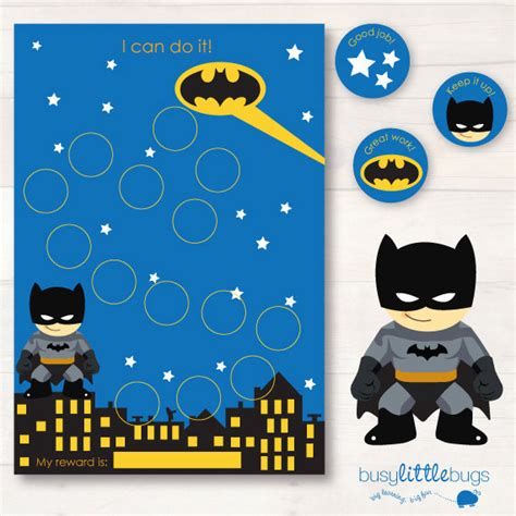 batman printable reward charts batman chore reward chart pack automatic download