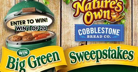 Big Green Egg Giveaway - coupons and freebies big green egg grill prize pack giveaway 20 winners win a big