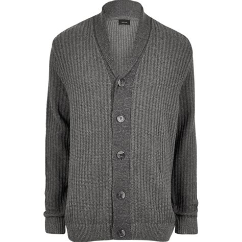 Ribbed Knit Cardigan big and grey ribbed knit cardigan jumpers