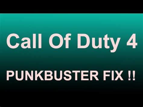 fixer call call of duty 4 punkbuster fix