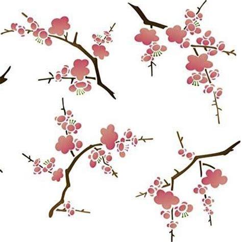 Blossom Tree Wall Stickers wall stencils cherry blossoms flower stencil royal
