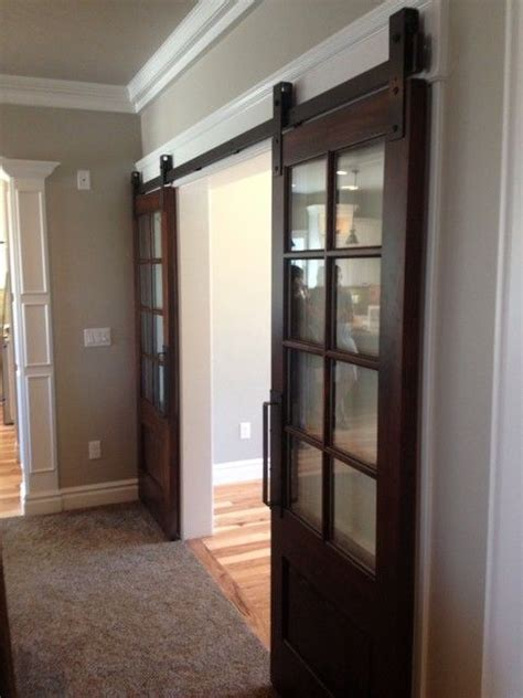 interior sliding barn doors for homes 15 best images about foyer doors on pinterest lowes