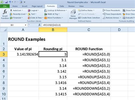 format excel round up rounding numbers in excel 2010 with round roundup and