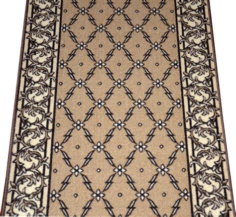 runner rugs by the foot dean washable carpet rug runner trellis beige purchase by the linear foot modern rugs