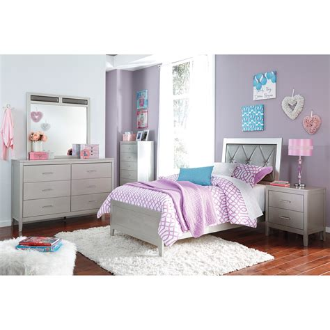 bedroom groups signature design by ashley olivet glam twin bedroom group
