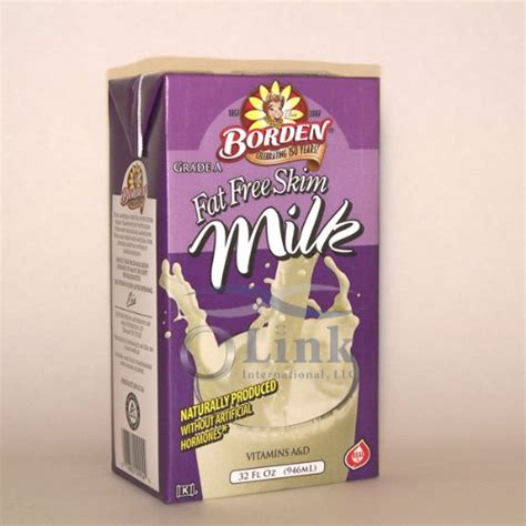 Borden Shelf Stable Milk by Borden Shelf Stable Free Skim White Milk 32oz 6