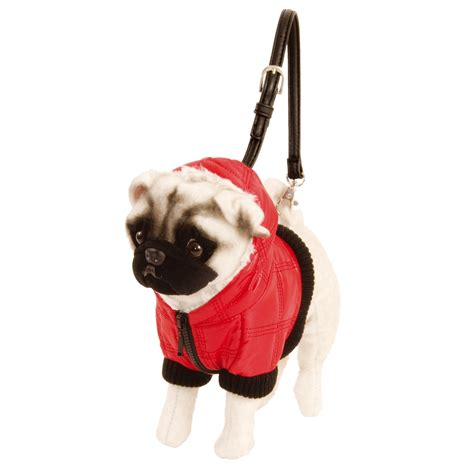 pug bag fuzzy nation puff baby pug bag disc gift palmers