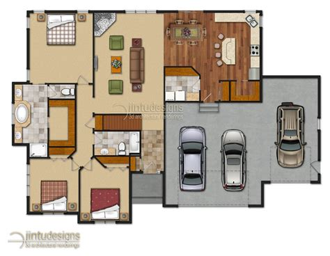 Colored Floor Plans by Color Floor Plan Residential Floor Plans 2d Floor Plan