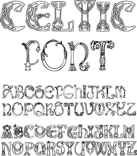 printable irish font 25 best ideas about alphabet stencils on pinterest