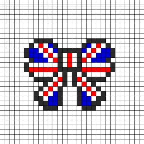 hama bead templates union flag bow perler perler bead pattern