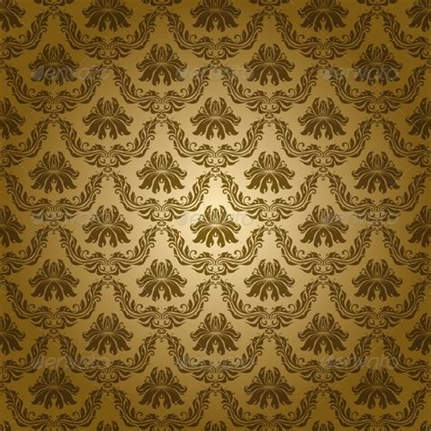 yellow royal pattern damask seamless floral pattern by julijamilaja graphicriver
