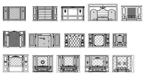 wall pattern dwg 52 types of bedroom back wall design cad drawings high