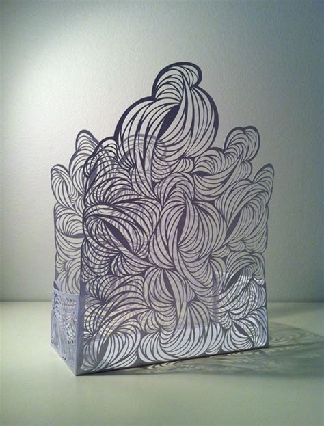 How To Make Paper Look 3d - vessels explorations in 3d paper cut structures on behance