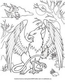 griffin coloring page by tablynn on deviantart
