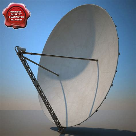big satellite big satellite dish 3d model
