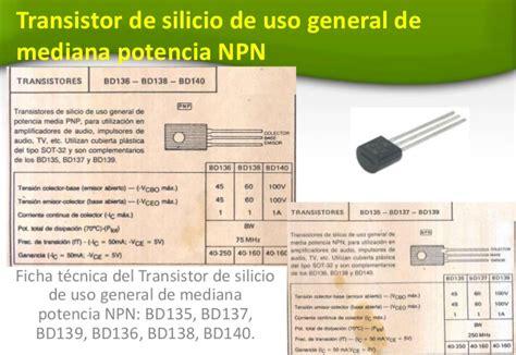 transistor npn medir transistor bd139 caracteristicas 28 images controlar y medir velocidad transistores