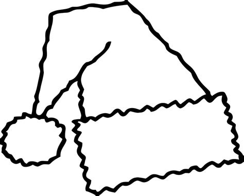 coloring page of a santa hat santa hat template clipart best