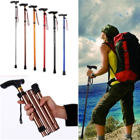 Dijamin Tongkat Kaki Lipat perjalanan trekking mendaki kaki lipat tongkat kruk lazada indonesia