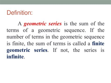 pattern sequence meaning geometric series