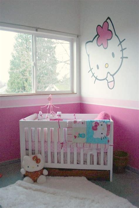 imagenes para pintar tu cuarto habitaci 243 n de beb 233 hello kitty habitaciones tematicas