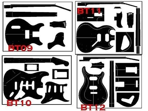 Auto Decal Templates by Guitar Builder Adhesive Blueprints Guitar Templates Vinyl