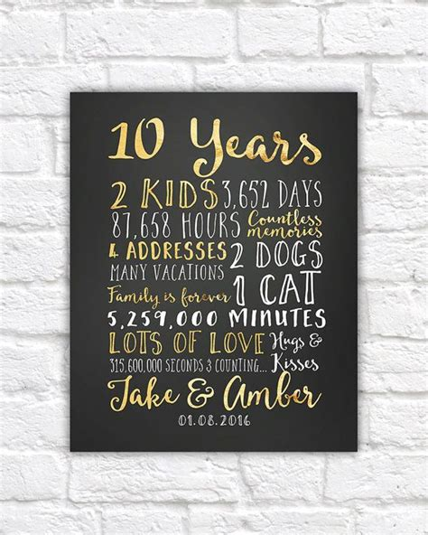 10th Wedding Anniversary Gift Ideas by You Don T To Pay The Cost For 10th Anniversary Gift