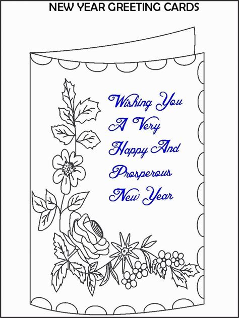new year free printable cards card coloring pages free coloring home